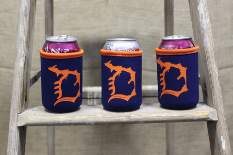 Old English D in Michigan Coozie