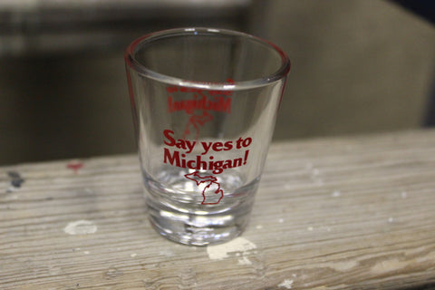 Say Yes to Michigan Shot Glass