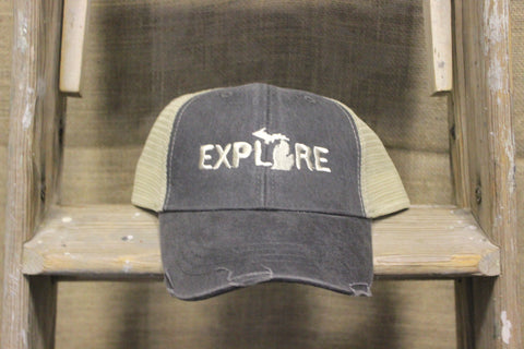 Explore Michigan Unisex Adjustable Trucker Hat