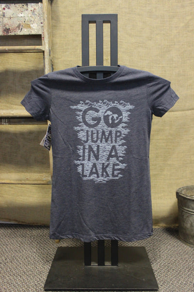 Go Jump in a Lake Women's Tri-Blend Fitted T-Shirt