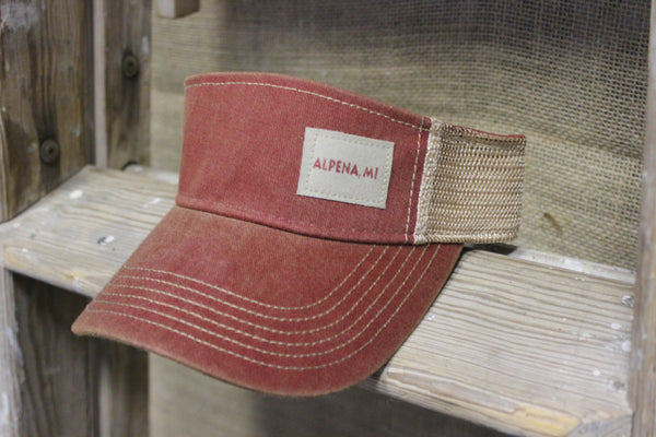 ... Alpena Snapback Trucker Visors (Available in cardinal red   green) ... 7ed959a54ada