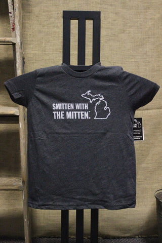 Toddler/Youth Smitten with the Mitten T-shirt (Available in charcoal & neon pink)