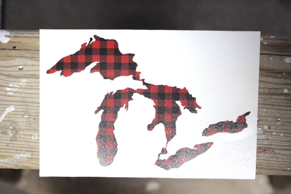 Great Lakes Proud Plaid Decal Sticker - Support our Great Lakes!