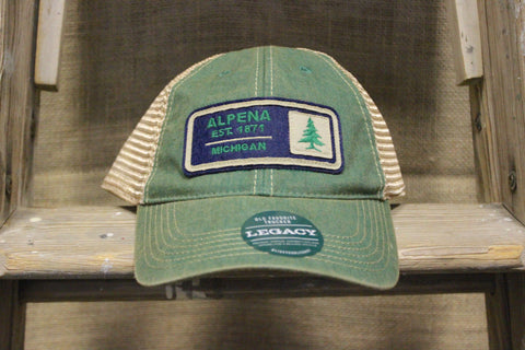 Alpena Pine Trucker Hat (Available in Green & Pink)