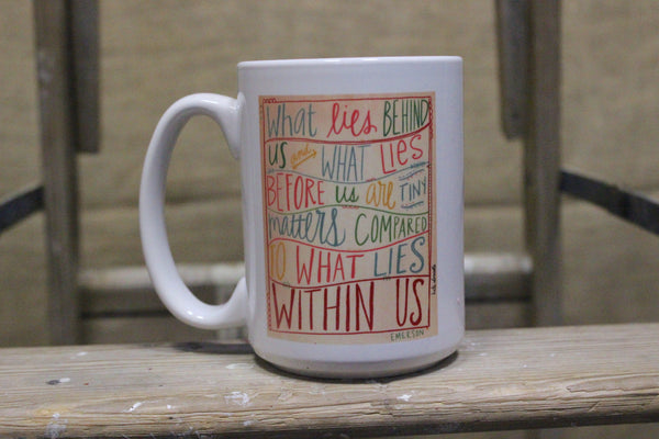 Emerson & Thoreau Quote Coffee Mugs