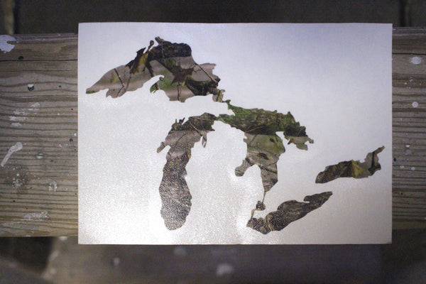 Great Lakes Proud Camo Decal Sticker - Support our Great Lakes!