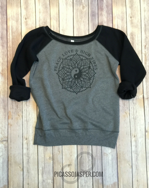 Peace Love & High Vibes Yin Yang Sweatshirt