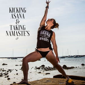 Kicking Asana & Taking Namaste's, Racerback Tank
