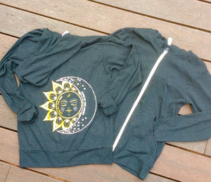 Live by the Sun, Love by the Moon Zip Hoodie