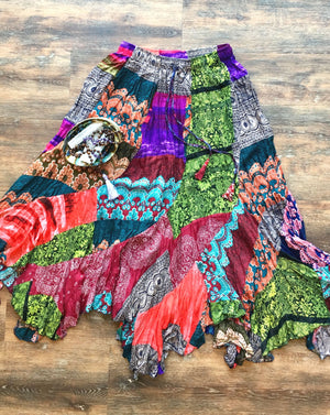 Magical Patchwork Goddess Maxi Skirt