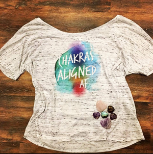Chakras Aligned AF, Scoop Neck Tee Shirt