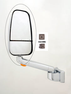 Travel Supreme/Jayco/Entegra Chrome 1750 Series Replacement Mirror Head (306-CRM-1703CCHR)