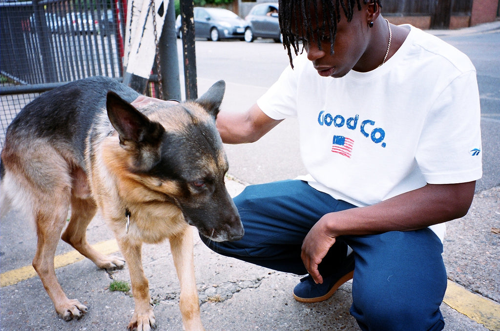 Reebok x The Good Company - TDG New Tee - Model with Dog | AStore