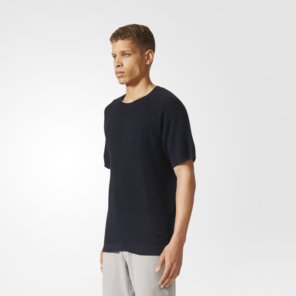 adidas x wings+horns Linear T Shirt - Navy BK0238 Model | Astore
