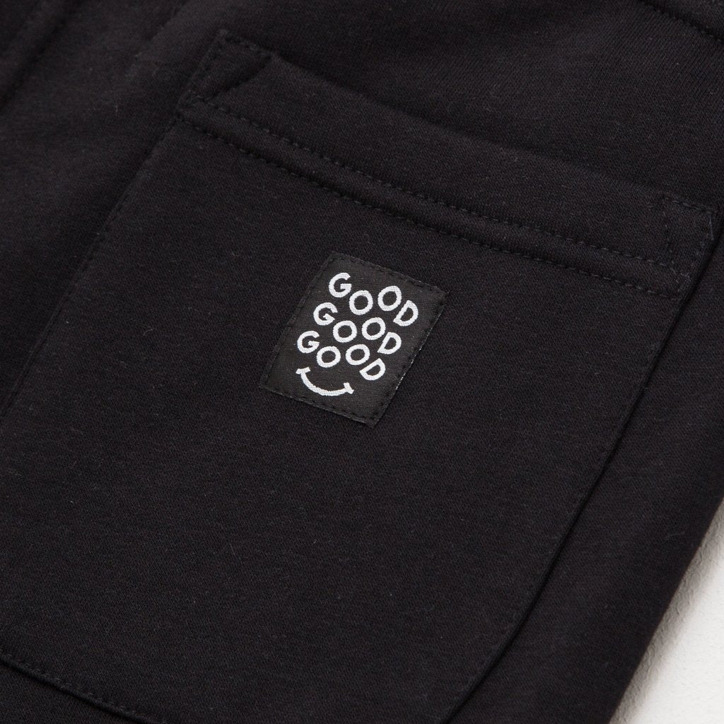 Good Good Good Relaxed Fleece shorts Black Detail