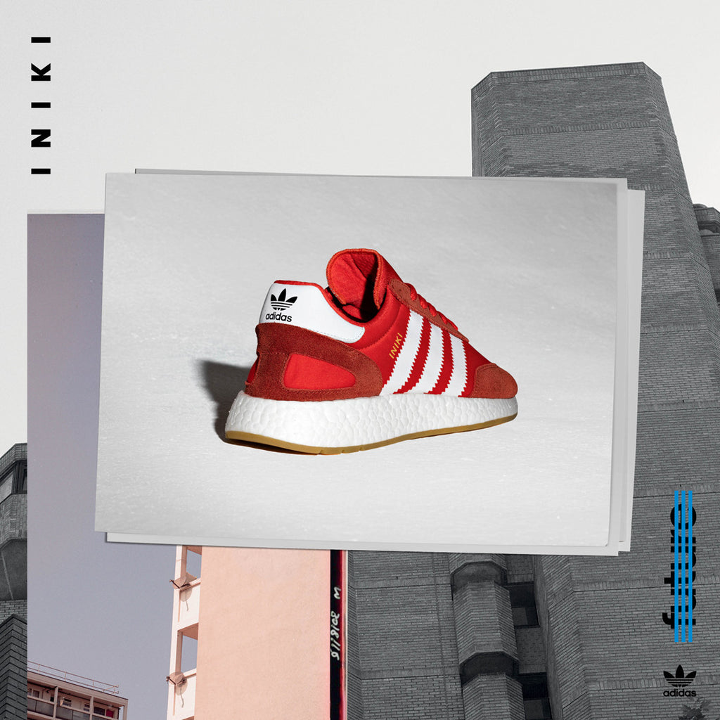 adidas Iniki Runner - Red BB2091 - AStore