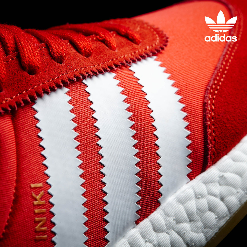 adidas Iniki Runner - Red BB2091 - Detail | AStore