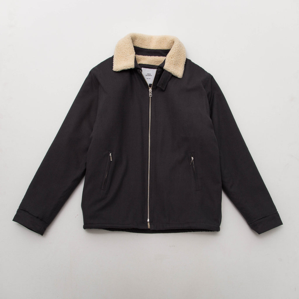 Simon Deporres Shearling Aviator Jacket