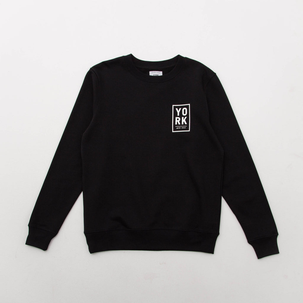 York Surf Square Logo Sweater - Black | AStore