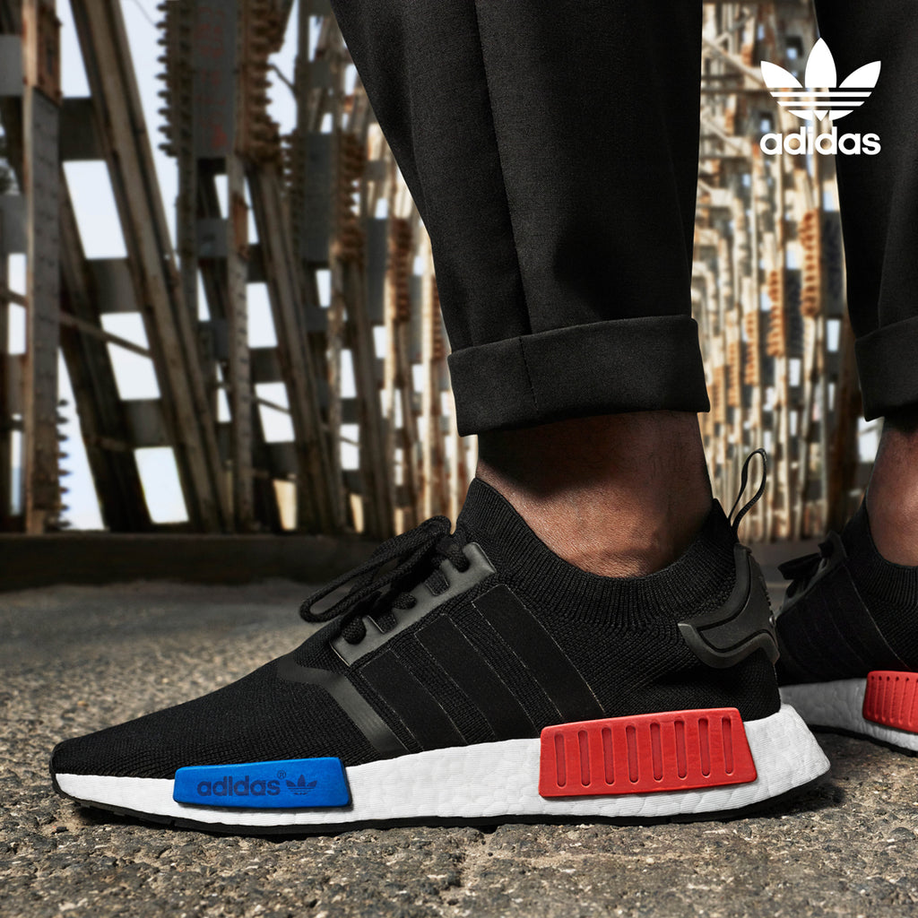 adidas NMD OG Black Lush Red Royal Blue side