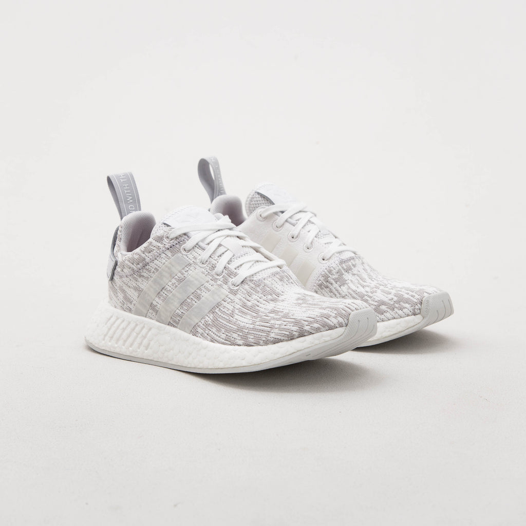 adidas NMD_R2 Woman's Sneakers - White / Grey BY8691 | AStore