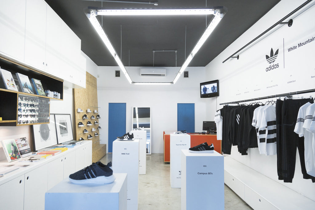 A Store adidas x White Mountaineering Launch - store interior