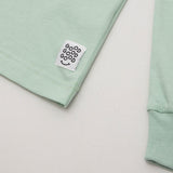 Good Good Good Basic T Shirt (Long Sleeve) - Mint - Front Label | AStore