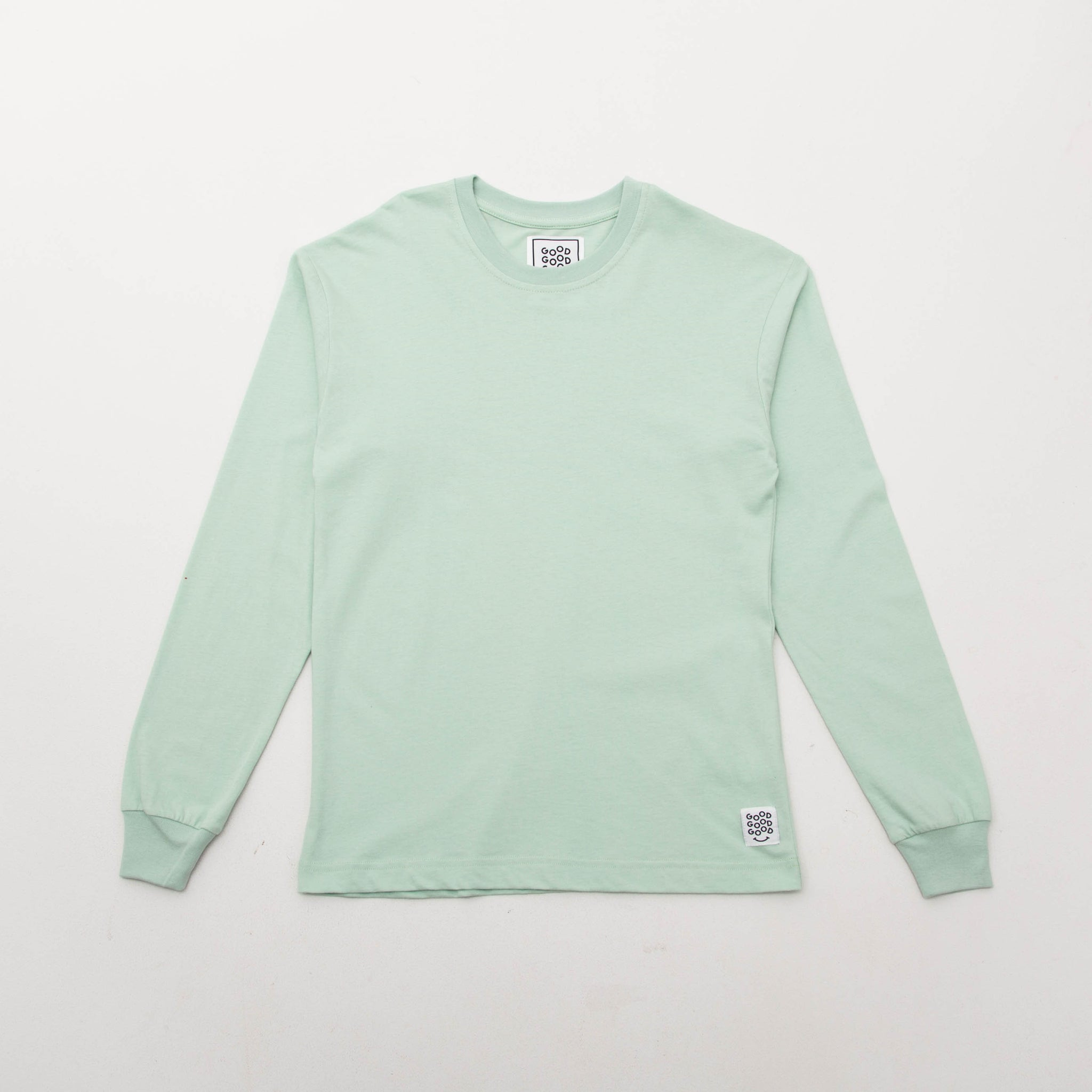 Good Good Good Basic T Shirt (Long Sleeve) - Mint - Front View | AStore