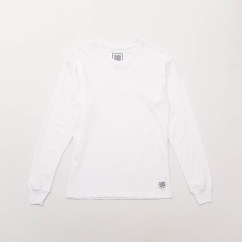 Basic T Shirt (Long Sleeve) - White - A Store