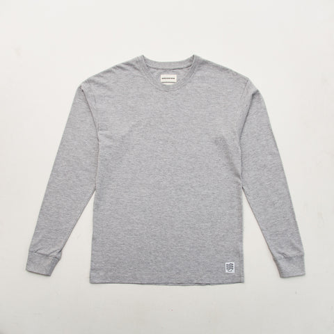 Box T Shirt (Long Sleeve) - Grey - A Store