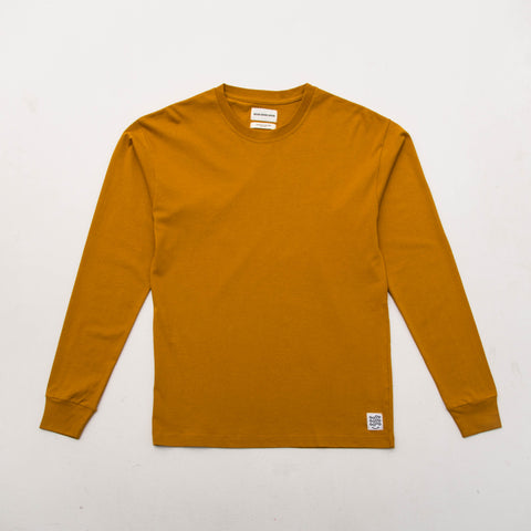 Box T Shirt (Long Sleeve) - Mustard - A Store