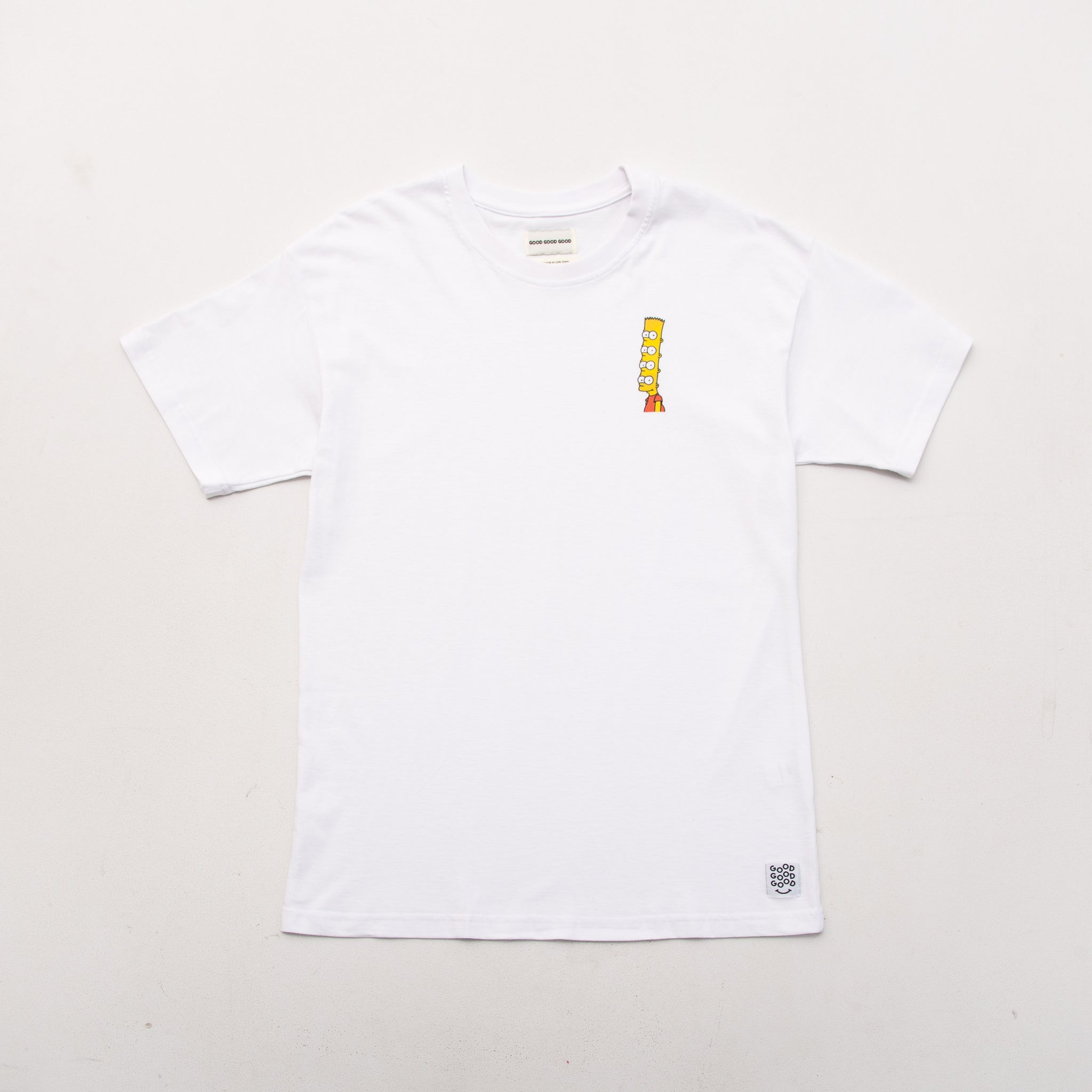 Bart Tee - White - A Store