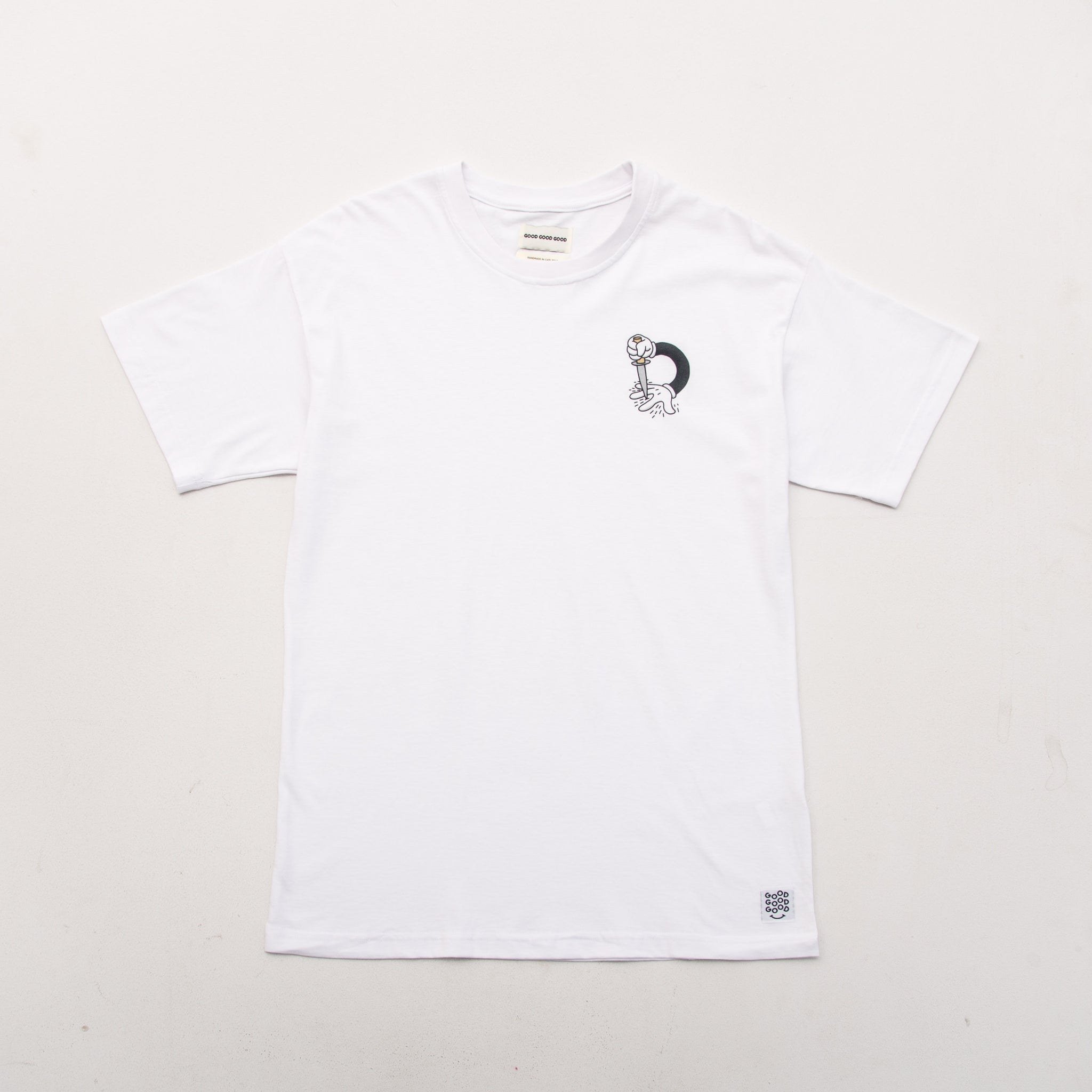 Knife Hands Tee - White - A Store