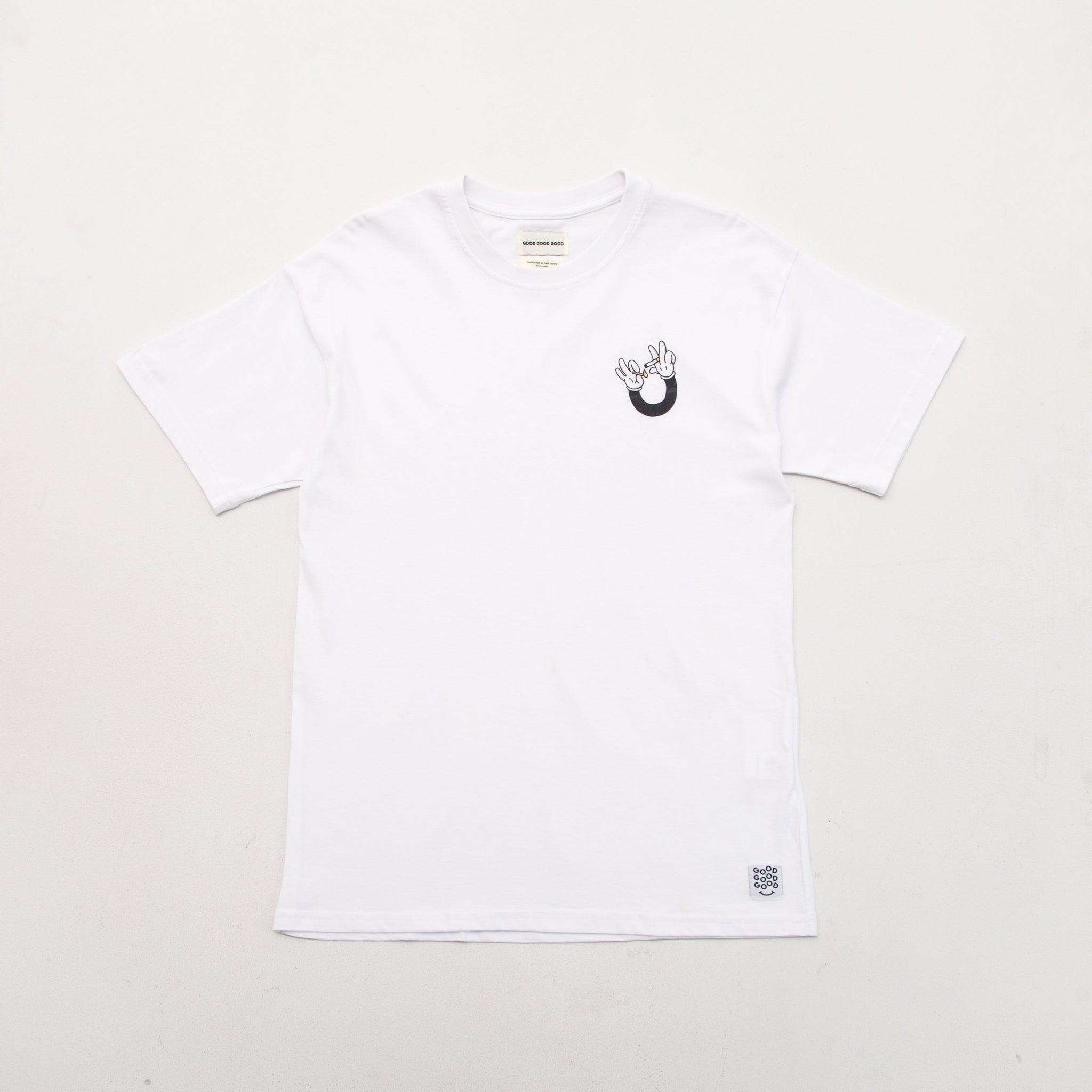 Smoke Hands Tee - White
