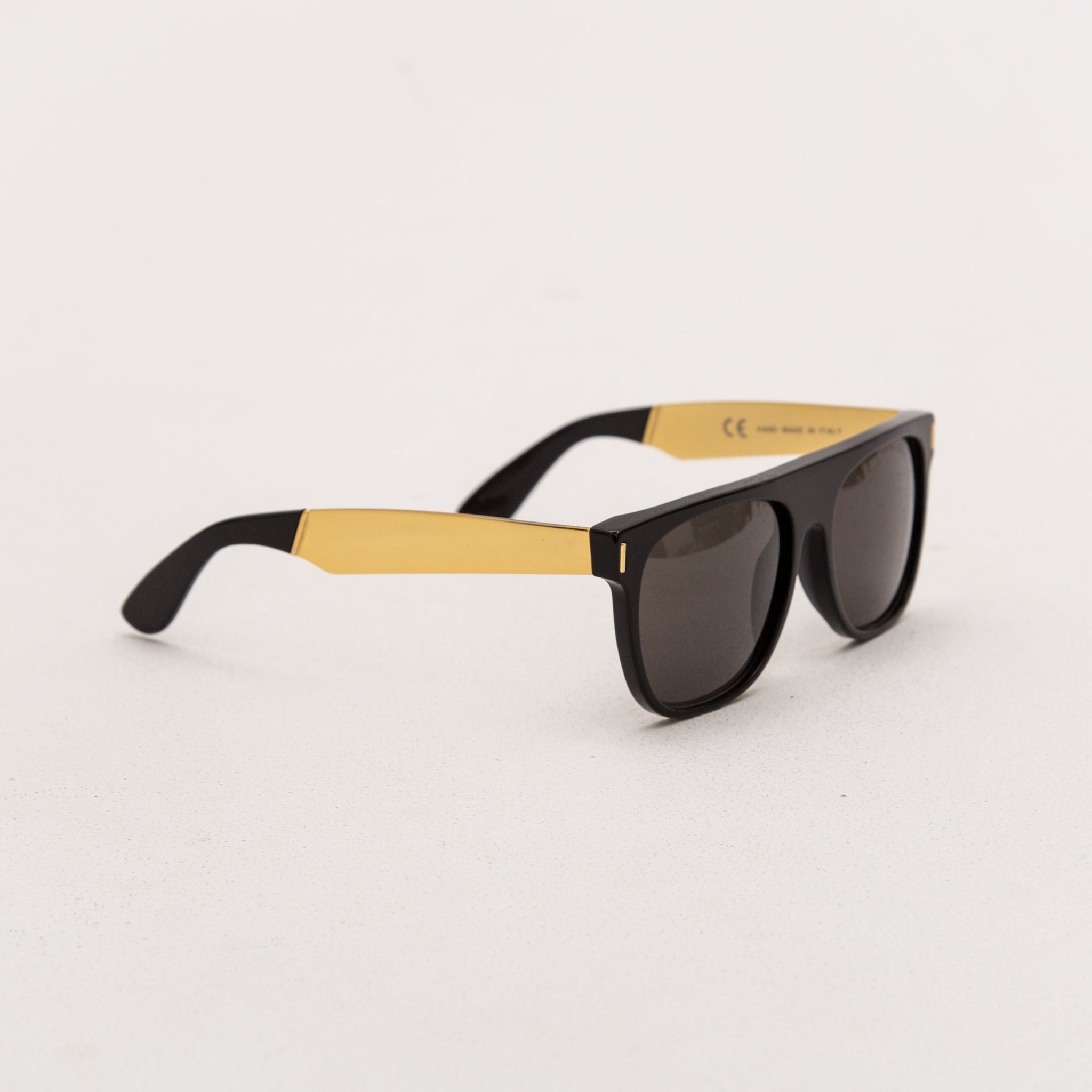 Super Flat Top Sunglasses - Francis Black Gold NIM | AStore