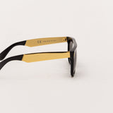 Super Flat Top Sunglasses - Francis Black Gold NIM - Side | AStore