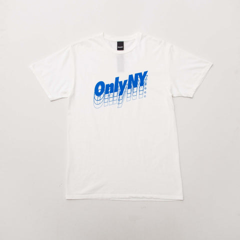 Only NY Beta Logo T Shirt - White - Front | AStore