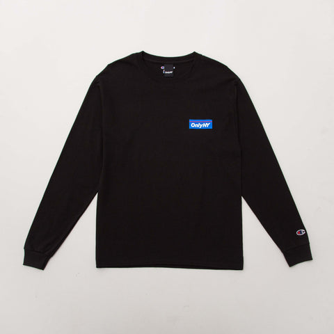 Only NY Subway Champion L/S T Shirt - Black | AStore