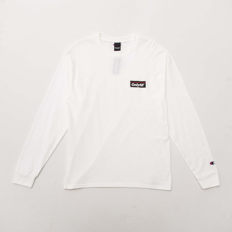 Only NY Subway Champion Long Sleeve T Shirt - White - Front | AStore