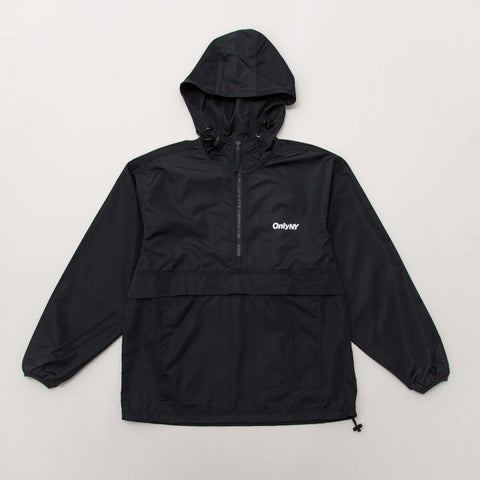 Only NY Nylon Track Anorak - Black - Front | AStore