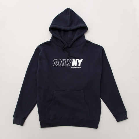 Only NY Sportswear Outline Hoody - Blue - Front | AStore