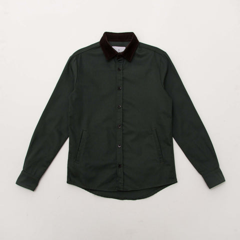 Cord Overshirt - Brown / Green - A Store