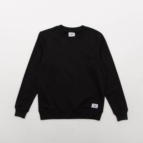 Square Woven Label Sweater - Black