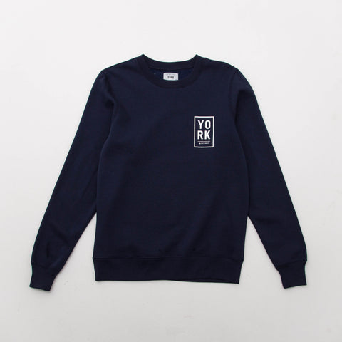 Square Logo Sweater - Navy