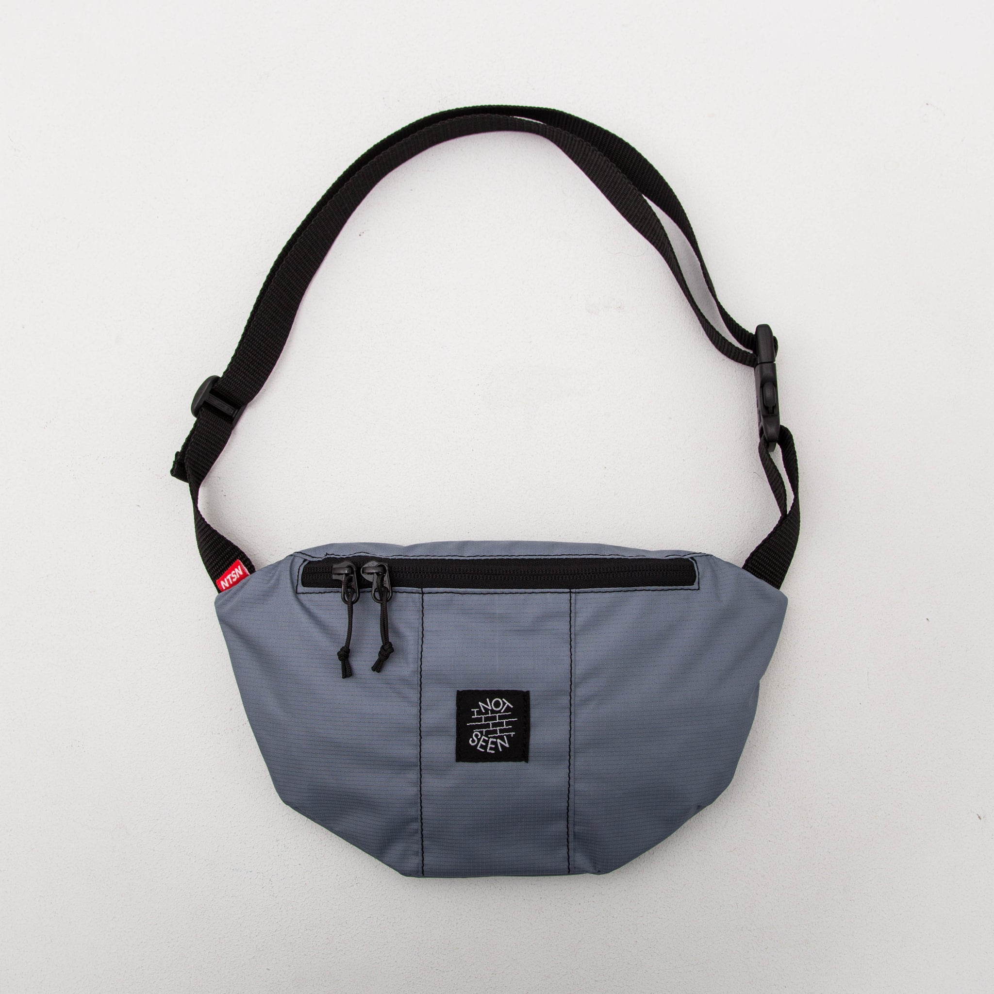 Not Seen Half Moon Bag - Grey - Front | AStore