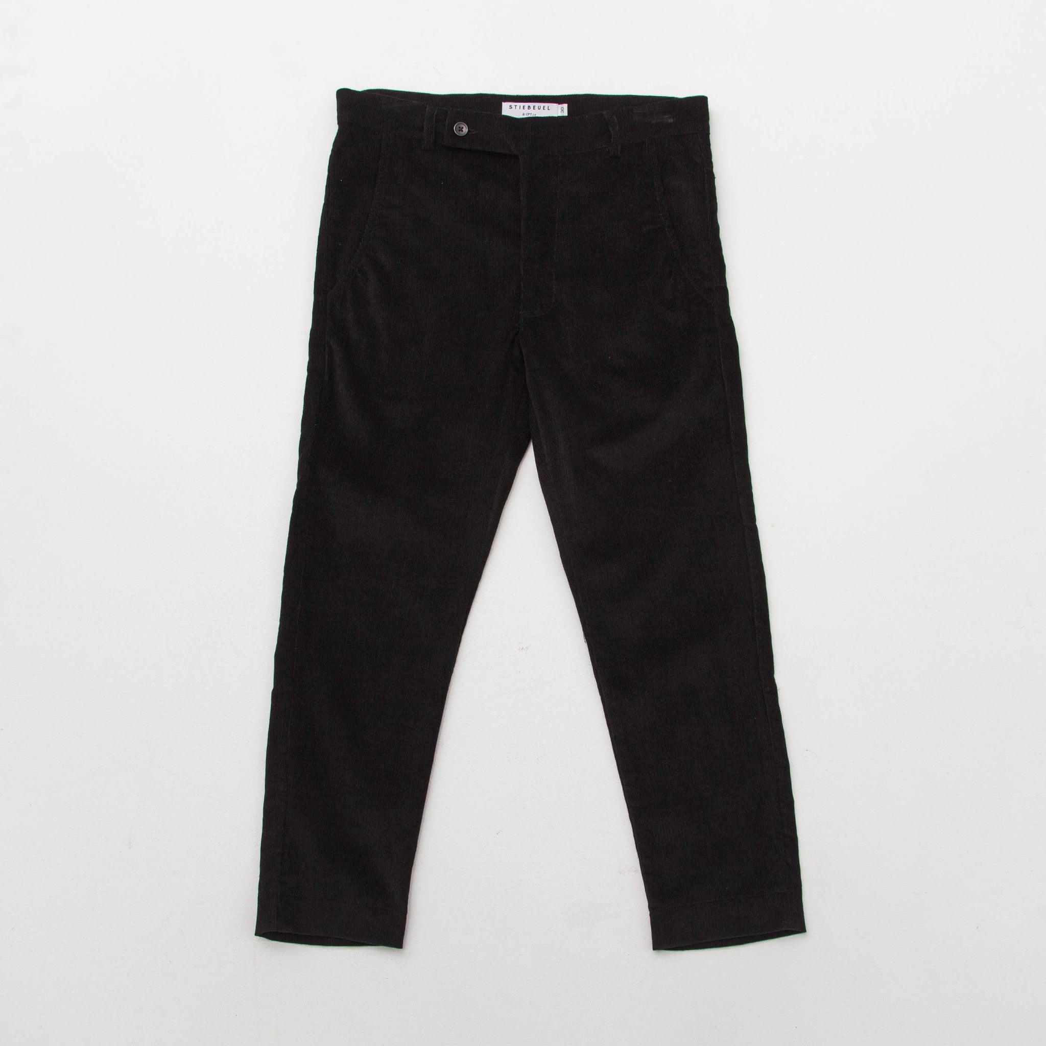 Cropped Trousers - Cord Black - A Store