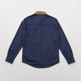 Cord Overshirt - Blue / Tan - A Store