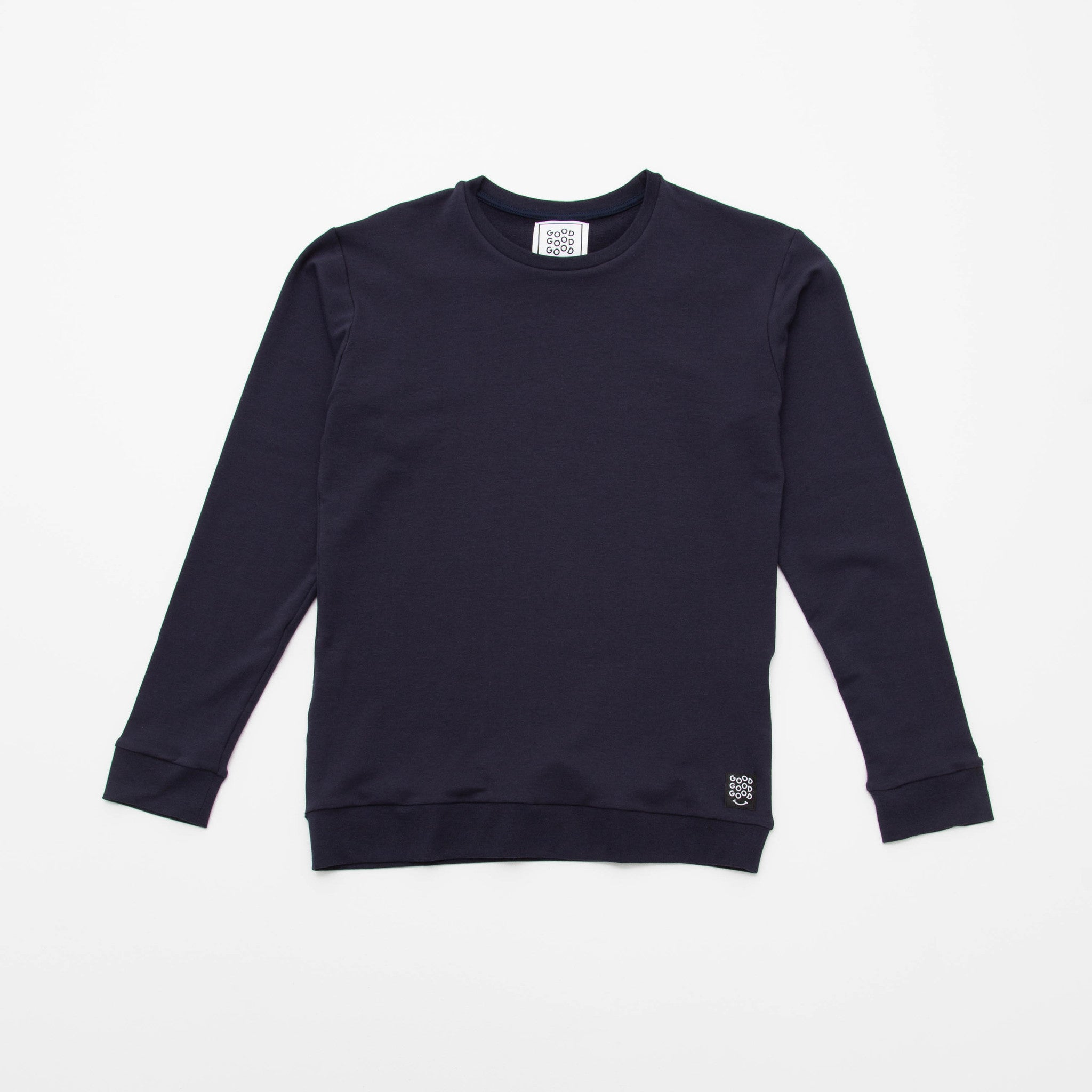 Good Good Good Crew Neck Sweater Front - Navy - A Store
