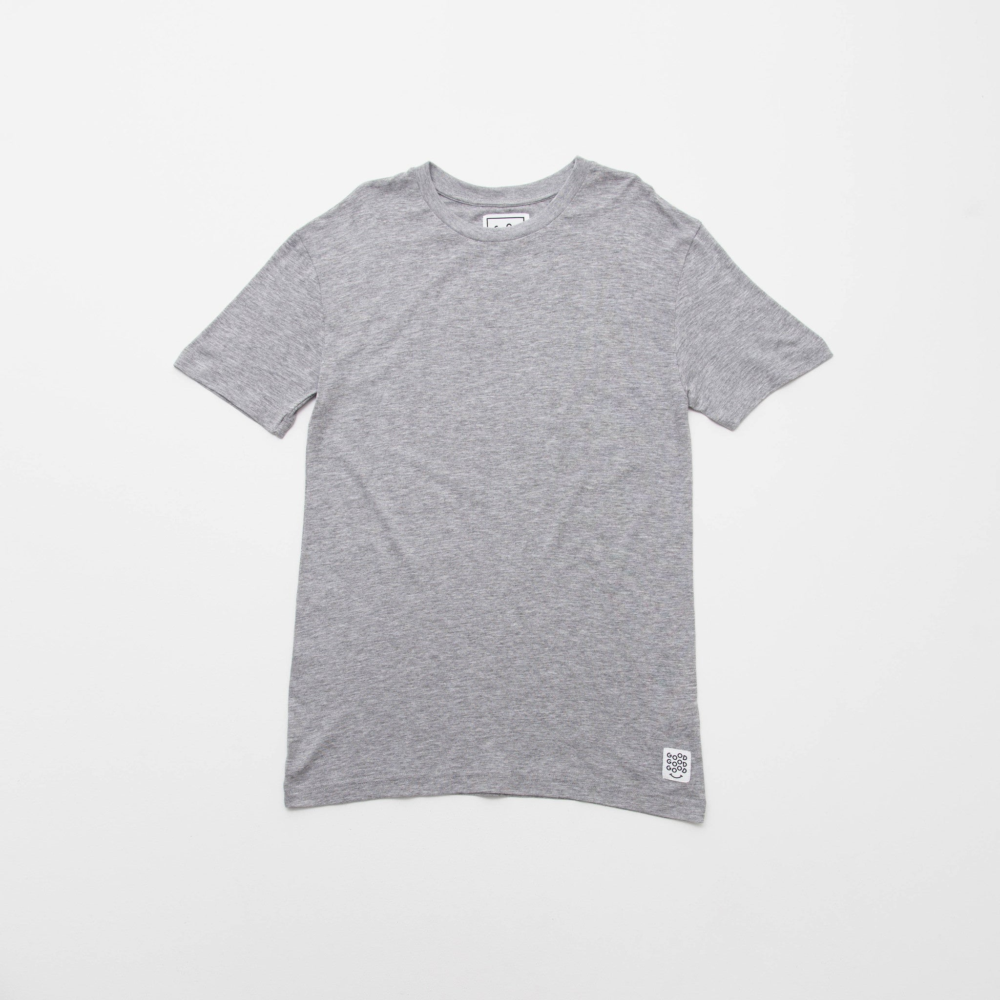 Good Good Good Basic T Shirt (Short Sleeve) Front Grey