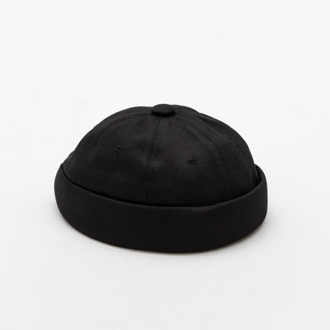 Yarmulke Short Cap - Black